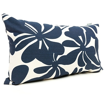 Majestic Home Goods Indoor/Outdoor Plantation Small Pillow, Navy Blue