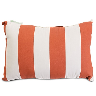 Majestic Home Goods Indoor/Outdoor Vertical Stripe Small Pillow, Burnt Orange