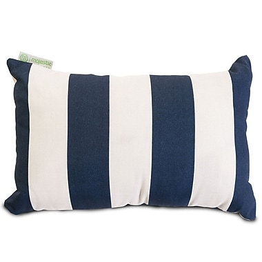 Majestic Home Goods Indoor/Outdoor Vertical Stripe Small Pillow, Navy Blue