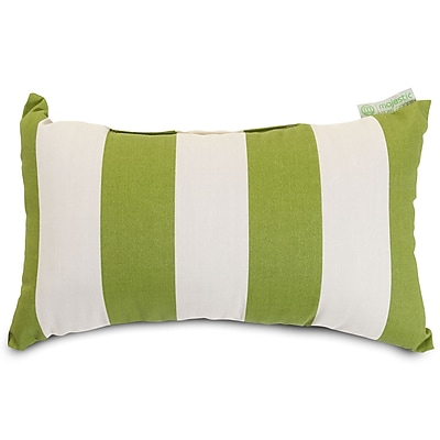 Majestic Home Goods Indoor/Outdoor Vertical Stripe Small Pillow, Sage