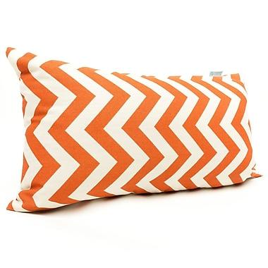 Majestic Home Goods Indoor/Outdoor Chevron Small Pillow, Burnt Orange