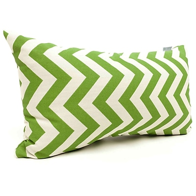 Majestic Home Goods Indoor/Outdoor Chevron Small Pillow, Sage