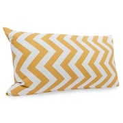 Majestic Home Goods Indoor/Outdoor Chevron Small Pillow, Yellow