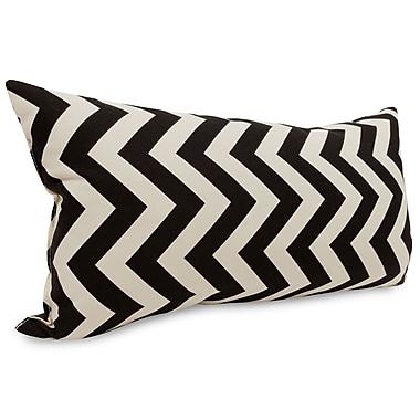 Majestic Home Goods Indoor/Outdoor Chevron Small Pillow, Black