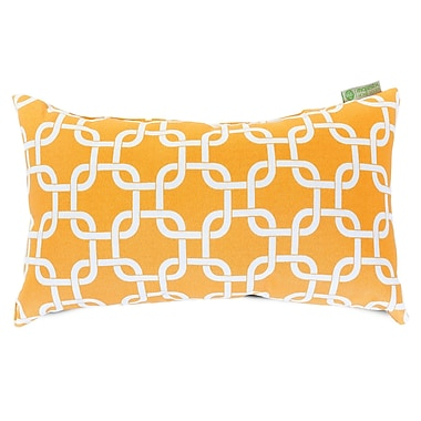 Majestic Home Goods Indoor/Outdoor Links Small Indoor/Outdoor Pillow, Yellow
