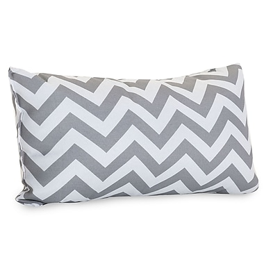 Majestic Home Goods Indoor/Outdoor Chevron Small Pillow, Gray
