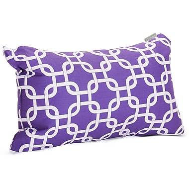Majestic Home Goods Indoor Links Small Pillow, Purple