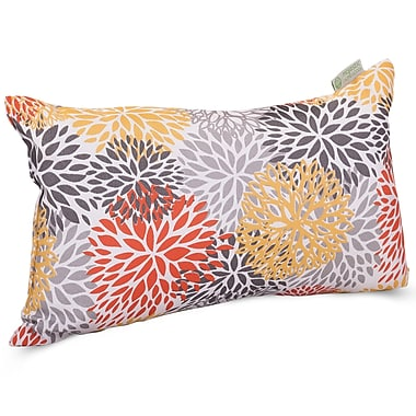 Majestic Home Goods Indoor/Outdoor Blooms Small Pillow, Citrus