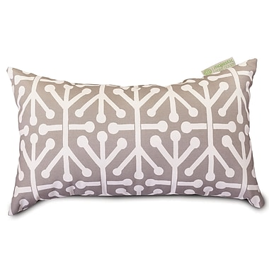 Majestic Home Goods Indoor/Outdoor Aruba Small Pillow, Gray