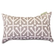 Majestic Home Goods Indoor/Outdoor Aruba Small Pillow, Gray