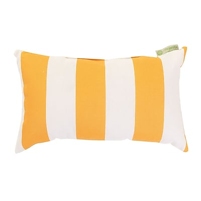 Majestic Home Goods Indoor/Outdoor Vertical Stripe Small Pillow, Yellow