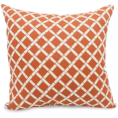 Majestic Home Goods Indoor/Outdoor Bamboo Large Pillow, Burnt Orange