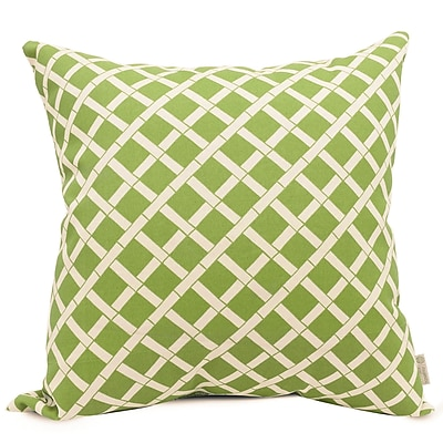 Majestic Home Goods Indoor/Outdoor Bamboo Large Pillow, Sage