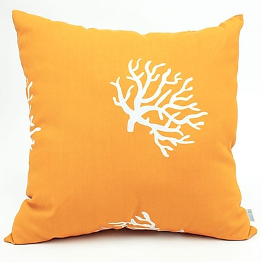 Majestic Home Goods Indoor/Outdoor Coral Large Pillow, Yellow