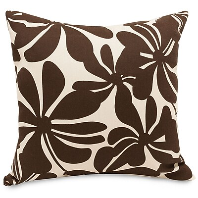 Majestic Home Goods Indoor/Outdoor Plantation Large Pillow, Chocolate