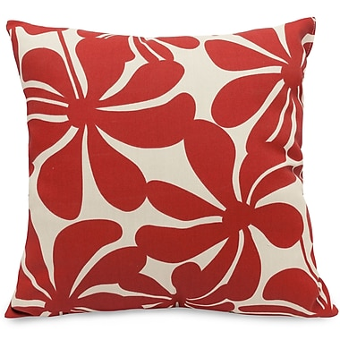 Majestic Home Goods Indoor/Outdoor Plantation Large Pillow, Red