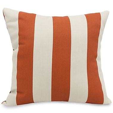 Majestic Home Goods Indoor/Outdoor Vertical Stripe Large Pillow, Burnt Orange
