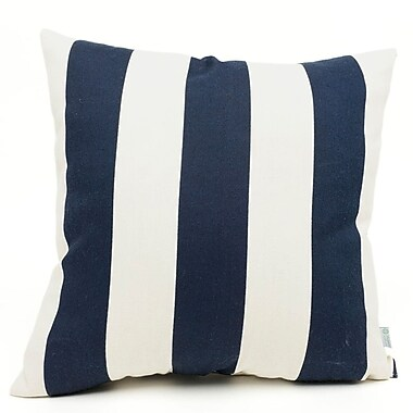 Majestic Home Goods Indoor/Outdoor Vertical Stripe Large Pillow, Navy Blue
