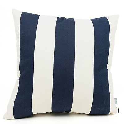 Majestic Home Goods Indoor/Outdoor Vertical Stripe Large Pillow, Navy Blue