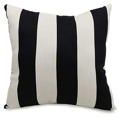 Majestic Home Goods Indoor/Outdoor Vertical Stripe Large Pillow, Black