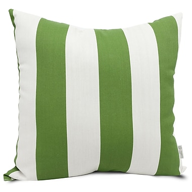 Majestic Home Goods Indoor/Outdoor Vertical Stripe Large Pillow, Sage