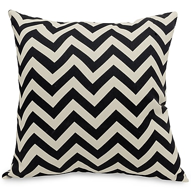 Majestic Home Goods Indoor/Outdoor Chevron Large Pillow, Black