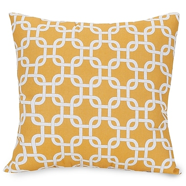 Majestic Home Goods Indoor/Outdoor Links Large Indoor/Outdoor Pillow, Yellow