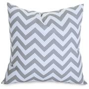 Majestic Home Goods Indoor/Outdoor Chevron Large Pillow, Gray