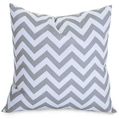 Majestic Home Goods Indoor/Outdoor Chevron Large Pillow, Gray