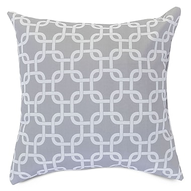 Majestic Home Goods Indoor/Outdoor Links Large Indoor/Outdoor Pillow, Gray