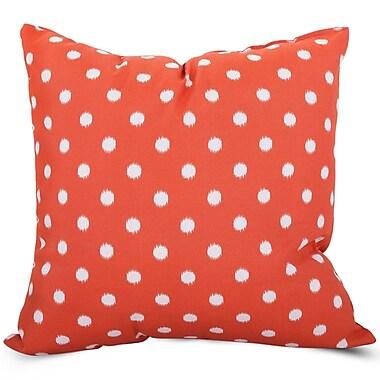 Majestic Home Goods Indoor/Outdoor Ikat Dot Large Pillow, Orange