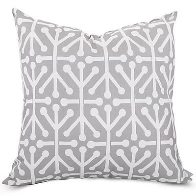 Majestic Home Goods Indoor/Outdoor Aruba Extra Large Pillow, Gray