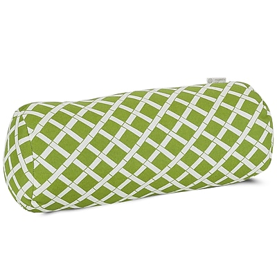 Majestic Home Goods Indoor/Outdoor Bamboo Round Bolster Pillow, Sage