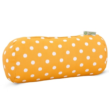 Majestic Home Goods Indoor/Outdoor Ikat Dot Round Bolster Pillow, Citrus