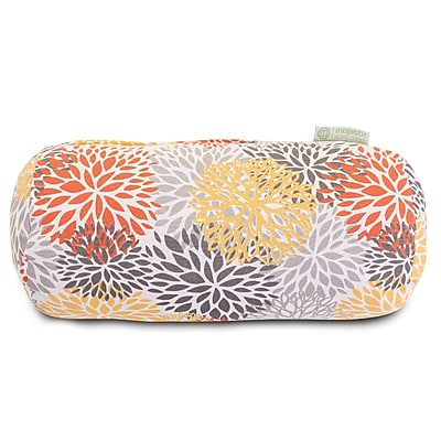 Majestic Home Goods Indoor/Outdoor Blooms Round Bolster Pillow, Citrus