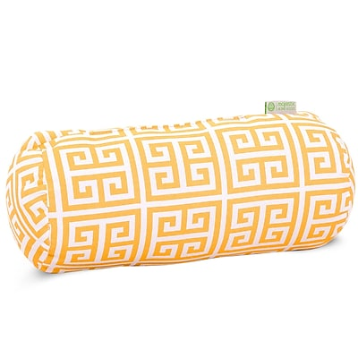 Majestic Home Goods Indoor/Outdoor Towers Round Bolster Pillow, Citrus
