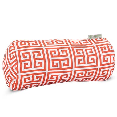 Majestic Home Goods Indoor/Outdoor Towers Round Bolster Pillow, Orange