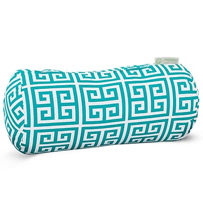 Majestic Home Goods Indoor/Outdoor Towers Round Bolster Pillow, Pacific