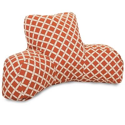 Majestic Home Goods Outdoor/Indoor Bamboo Reading Pillow, Burnt Orange