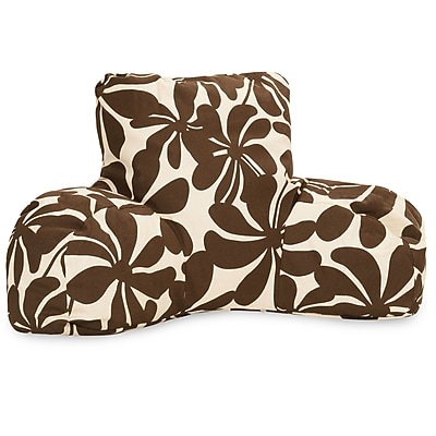 Majestic Home Goods Outdoor/Indoor Plantation Reading Pillow, Chocolate