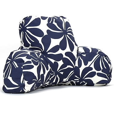 Majestic Home Goods Outdoor/Indoor Plantation Reading Pillow, Navy Blue