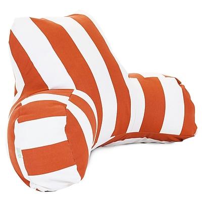Majestic Home Goods Outdoor/Indoor Vertical Stripe Reading Pillow, Burnt Orange