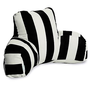 Majestic Home Goods Outdoor/Indoor Vertical Stripe Reading Pillow, Black