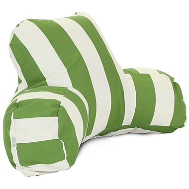 Majestic Home Goods Outdoor/Indoor Vertical Stripe Reading Pillow, Sage