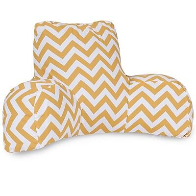 Majestic Home Goods Outdoor/Indoor Chevron Reading Pillow, Yellow