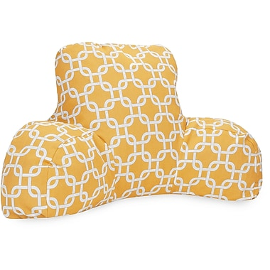 Majestic Home Goods Outdoor/Indoor Links Reading Pillow, Yellow