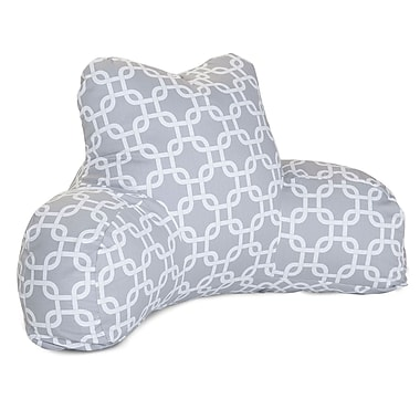 Majestic Home Goods Outdoor/Indoor Links Reading Pillow, Gray