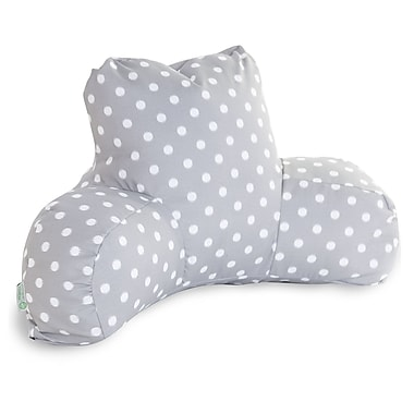 Majestic Home Goods Outdoor/Indoor Ikat Dot Reading Pillow, Gray