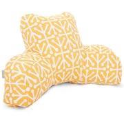 Majestic Home Goods Outdoor/Indoor Aruba Reading Pillow, Orange