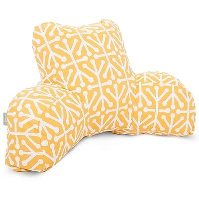 Majestic Home Goods Outdoor/Indoor Aruba Reading Pillow, Citrus